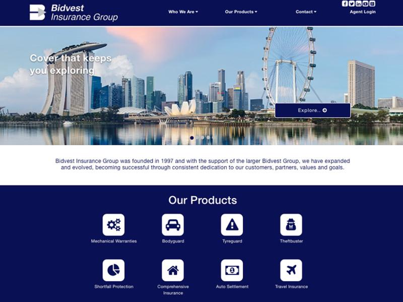 Bidvest Insurance - Cutom WordPress Development