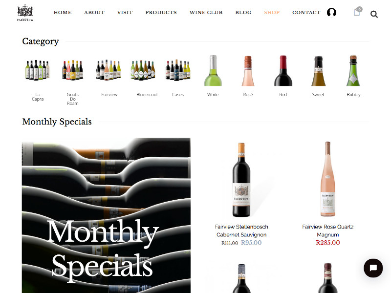 Fairview Wines - Custom WooCommerce & Membership