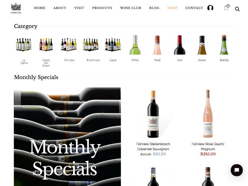 Fairview Wines - Custom WooCommerce & Membership
