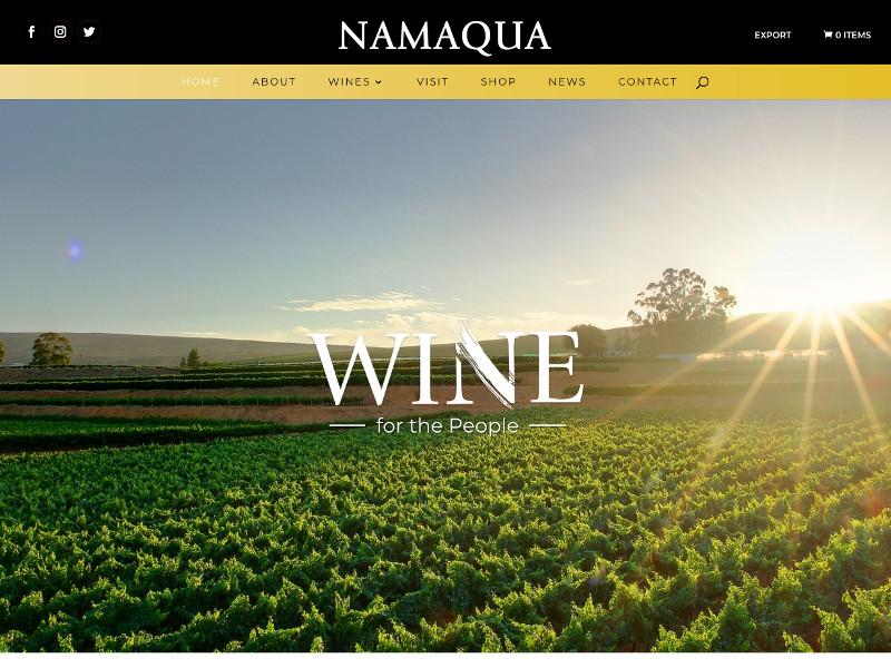 Namaqua Wines - WordPress and WooCommerce